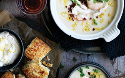 Prawn-and-sweet-corn-chowder-with-cheddar-scones-300px