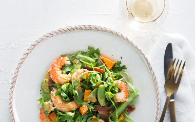 Prawn Salas with Sweet Potato and Pancetta