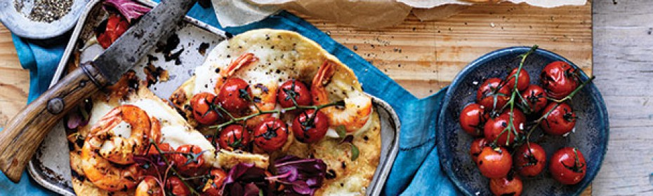 Lemon-Chilli-Australian-Prawn-and-Radicchio-Pizza